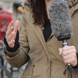 interviewer outside
